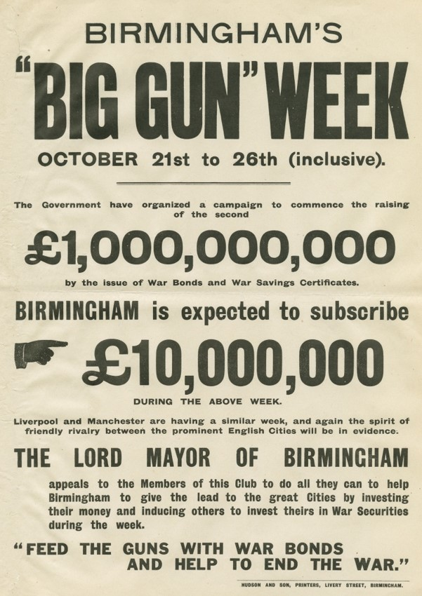 Big Gun Week - Birmingham competed with other British cities to raise phenomenal amounts of money to 'feed the guns'.