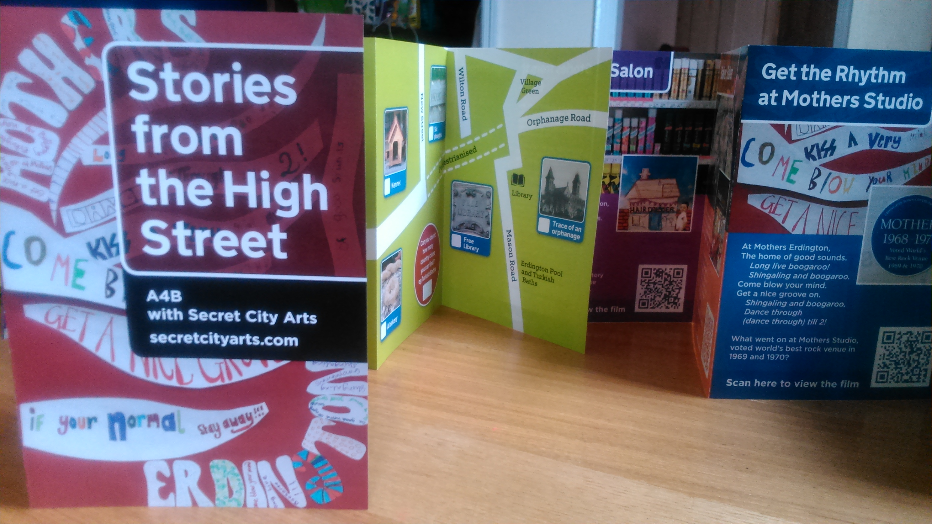 Concertina map trail leaflet: Stories from the High Street